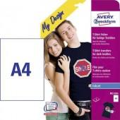 Tintasugaras textilfólia Avery-Zweckform My Design T-Shirt MD1004 DIN A4 Tintasugaras nyomtatóhoz optimálva 8 lap