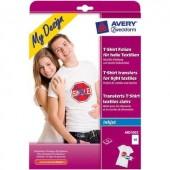 Tintasugaras textilfólia Avery-Zweckform My Design T-Shirt MD1002 DIN A4 Tintasugaras nyomtatóhoz optimálva 10 lap