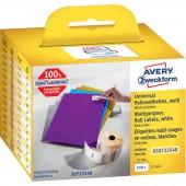 Avery-Zweckform Etikett tekercs Kompatibilis helyettesíti DYMO 11354, S0722540 57 x 32 mm Papír Fehér 1000 db Leoldható Univerzális etikett AS0722540