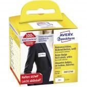 Avery-Zweckform Etikett tekercs Kompatibilis helyettesíti DYMO 11356, S0722560 41 x 89 mm Fólia Fehér 200 db Leoldható Név címkék AS0722560