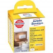 Avery-Zweckform Etikett tekercs Kompatibilis helyettesíti DYMO, Seiko 99012, S0722400 89 x 36 mm Papír Fehér 520 db Permanens Cím etikett AS0722400