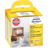 Avery-Zweckform Etikett tekercs Kompatibilis helyettesíti DYMO, Seiko 99014, S0722430 101 x 54 mm Papír Fehér 220 db Permanens Csomagküldő etikett AS0722430