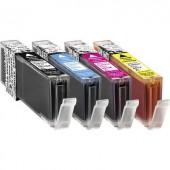 Basetech Tinta helyettesíti Canon CLI-551 Kompatibilis Fotó fekete, Cián, Bíbor, Sárga BTC90 1520,0050-126