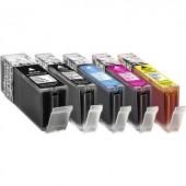 Basetech Tinta helyettesíti Canon PGI-550 XL, CLI-551 XL Kompatibilis Fekete, Fotó fekete, Cián, Bíbor, Sárga BTC100 1519,0050-126