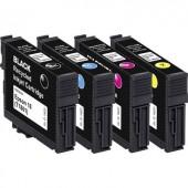 Basetech Tinta helyettesíti Epson T1801, T1802, T1803, T1804, 18 Kompatibilis Fekete, Cián, Bíbor, Sárga BTE158 1622,4850-126