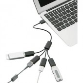 4 portos USB 2.0 hub, fekete, Renkforce 1611411