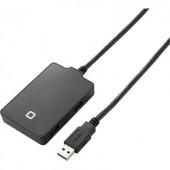4 portos USB 3.0 hub, fekete, Renkforce