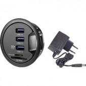 Beépíthető USB 3.0 hub, SD kártyaolvasóval, 60 mm átmérőhöz Renkforce rf-3USBSD-EBH