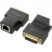 DVI hosszabbítás CAT5 hálózati kábelen keresztül, 70 m, 1920 x 1200px, Renkforce DVI Extender