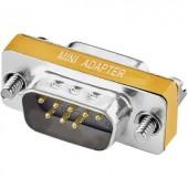 D Sub Null-modem átalakító adapter [1x D-SUB alj, 9 pólusú - 1x D-SUB dugó, 8 pólusú] Narancs színű Renkforce 1517719