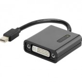 DisplayPort - DVI átalakító adapter, 1x mini DisplayPort dugó - 1x DVI aljzat 24+5 pól., aranyozott, fekete, Renkforce