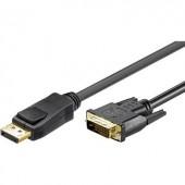 DisplayPort - DVI kábel [1x DisplayPort dugó - 1x DVI dugó, 24+1 pólusú] 4 m fekete Goobay 51963