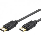 DisplayPort kábel [1x DisplayPort dugó - 1x DisplayPort dugó] 1 m fekete Goobay 68798