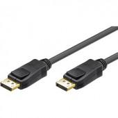 DisplayPort kábel [1x DisplayPort dugó - 1x DisplayPort dugó] 3 m fekete Goobay 65924