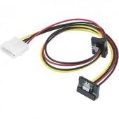 SATA - IDE Y tápkábel átalakító [1x IDE dugó, 4 pólusú - 2x SATA alj 15 pólusú] Renkforce 975476