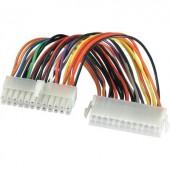 ATX 24 pin-es alaplapi tápkábel [1x ATX dugó 24 pólusú - 1x ATX dugó 24 pólusú] 0.20 m Goobay ak-134003