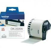 Etikett szalag (62 mm x 30,48 m), fehér, QL etikettnyomtatókhoz, Brother, DK-22205, DK22205,