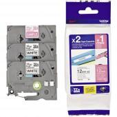 Feliratozó szalag 3 részes készlet szalagszín: Fehér/Pink/Fekete/Fehér 12 mm 8 m, Brother TZe-32M3