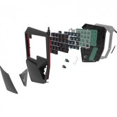 Gaming billentyűzet, világítós, fekete, Renkforce RF-GT-X1
