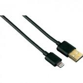 Apple töltőkábel iPhone iPad iPod adatkábel [1x USB 2.0 dugó A - 1x Apple Lightning dugó] 1,5m fekete Hama 102094