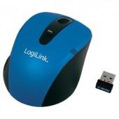 Vezeték nélküli USB-s mini optikai egér, kék színű LogiLink ID0046