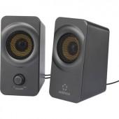 Számítógép hangszóró 2.0, fekete/szürke, Renkforce RF-PCL-MESH2.0 5 W