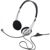 Számítógépes headset 3,5 mm-es jack Vezetékes, Sztereo Basetech TW-218 On Ear Fekete/ezüst