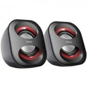 USB-s PC hangszóró, hangfalpár, 2.0 multimédiás hangfal 3 W Hama Sonic Mobil 183