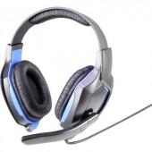 Vezetékes headset játékhoz, fekete/kék, Renkforce RF-GHD-100 On Ear