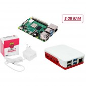Raspberry Pi® Essentials Kit Raspberry Pi® 4 B 8 GB 4 x 1.5 GHz Tápegységgel, Házzal