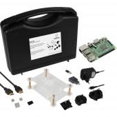 Renkforce Basic Set Raspberry Pi® 3 B 1 GB 4 x 1.2 GHz Házzal, Tápegységgel, HDMI™ kábellel, Noobs OS-sel, Hűtőbordával