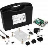 Renkforce Basic Set Raspberry Pi® 4 B 8 GB 4 x 1.5 GHz Házzal, Tápegységgel, HDMI™ kábellel, Noobs OS-sel, Hűtőbordával