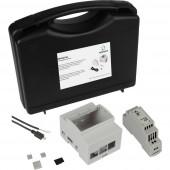 Renkforce DIN-Rail Set f. Raspberry Pi® 2 B, 3 B, 3 B + Kapalsínes házzal, Kalapsínes tápegységgel, USB kábellel, Noobs OS-sel, Hűtőbordával
