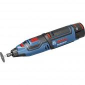 Akkus többfunkciós szerszám 2. akkuval, Tartozékokkal, Hordtáskával 9 részes 12 V 2 Ah Bosch Professional GRO 12 V LI 06019C5001