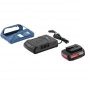 Bosch ProfessionalVezeték nélküli töltőrendszer, szerszámelem 18 V / 2 Ah + indukciós töltőállomás1600A003NA
