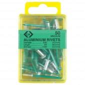 Alumínium szegecsek x 40 4.8x16mm C.K. T3819A 620 N/A