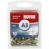 Popszegecs (Ø x H) 3 mm x 10 mm Alumínium Alumínium Novus 016053 70 db
