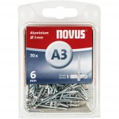 Popszegecs (Ø x H) 3 mm x 6 mm Alumínium Alumínium Novus 016039 70 db
