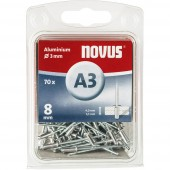Popszegecs (Ø x H) 3 mm x 8 mm Alumínium Alumínium Novus 016046 70 db