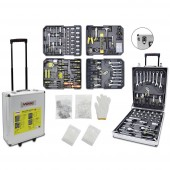 WMC Tools 2274813 Gurulós bőrönd, tartalommal (H x Sz x Ma) 37 x 20 x 51 cm