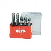 Keményfém maróstift, frézer készlet 10 részes 6mm-es szárral RUKO 116002