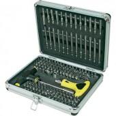 Biztonsági és speciális bit készlet, racsnis bit készlet 147 részes, Basetech