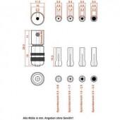 Befogópatronos fúrófej készlet, fúró, maró, csiszoló kisgépekhez Donau Elektronik 1504