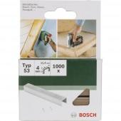 Kapocs 53-es típus 1000 db Bosch 2609255857 Kapocstípus 53 Méret (H x Sz) 4 mm x 11.4 mm