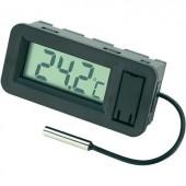 Beépíthető LCD hőmérő modul, panelműszer ‑50-től +70°C-ig Basetech BT-80