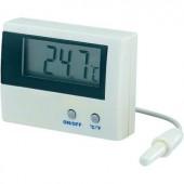Beépíthető LCD hőmérő modul, panelműszer, elemes hőmérő ‑50-től +80°C-ig Basetech LT-80