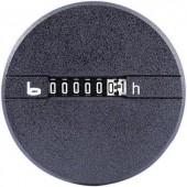 Kerek DC üzemóra számláló, 12-24 VDC, Bauser 266.2