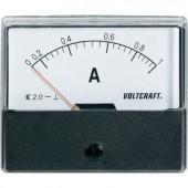 Analóg beépíthető lágyvasas táblaműszer, beépíthető árammérő műszer 1A Voltcraft AM 70x60