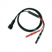 BNC - banándugó mérőzsinór (BNC aljzat - 4mm-es banándugó 2db) 1m fekete, piros Testec 7066-IEC-50-100-S