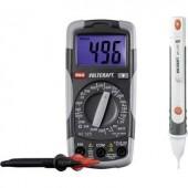 Digitális multiméter és érintés nélküli fázisceruza teszt készlet VOLTCRAFT DT-TEST-KIT 150